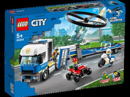 Polizeihubschrauber-Transport