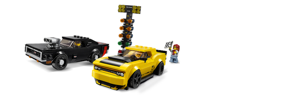 LEGO® 2018 Dodge Challenger SRT Demon und 1970 Dodge Charger R/T 75893