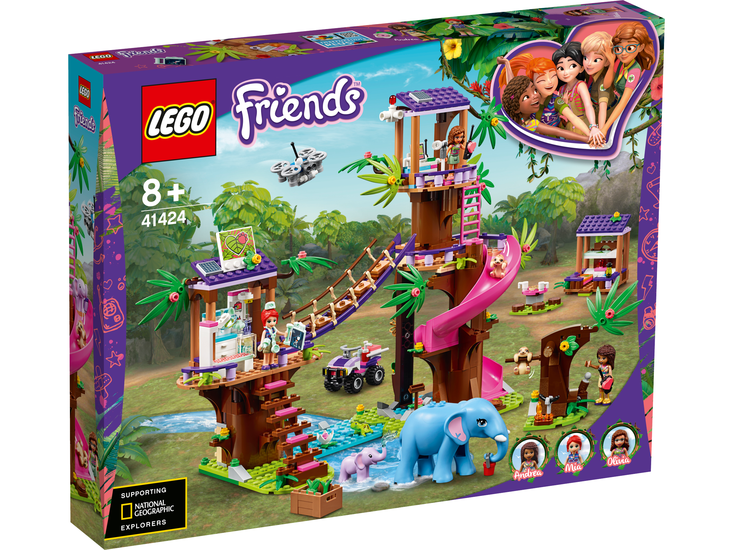 LEGO® Tierrettungsstation im Dschungel 41424