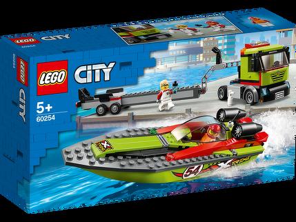 Rennboot-Transporter